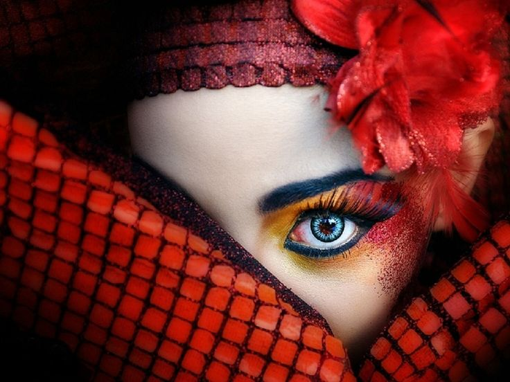 Red Makeup Beautiful Apple