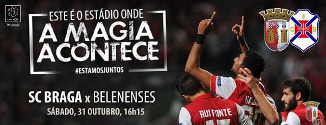 Belenenses vs Braga live streaming free   Belenenses vs Braga live streaming free on March 13-2016  Paulo Fonseca warned the players from Sporting Braga who can not think in the game of the Europa League on Thursday but only on the Sunday against Belenenses the 26th day of the First Football League. The Braga face Turkish side Fenerbahce Thursday in Braga in the second leg of the first knockout round of the Europa League and will try to reverse the 1-0 defeat endorsed two days to get to 'the…