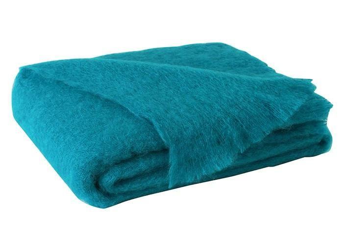 Brushed Mohair Throw Turquoise by Lands Downunder  #bedlinens #quilts #pillows #towels #westportct #bedding #luxurylinens #06880 #homedecor #figlinenswestport