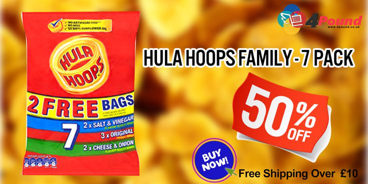 Hula Hoops Assorted 7 Salt & Vinegar Flavor potato rings Only at #4pound with best discount