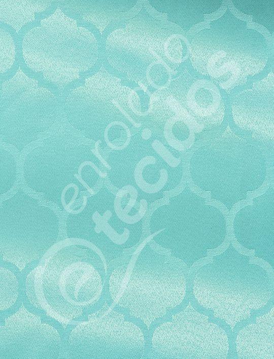 c6b6d17de3116 Tecido Jacquard Azul Tiffany Desenho Geométrico - Loja de Tecidos Online  para Casa e Eventos