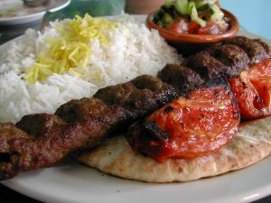 Koubideh !!! Persian ! Skewer (Kabob) of minced meat...