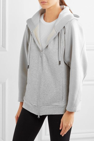 Adidas by Stella McCartney - Bonded Jersey Hooded Top - Gray -