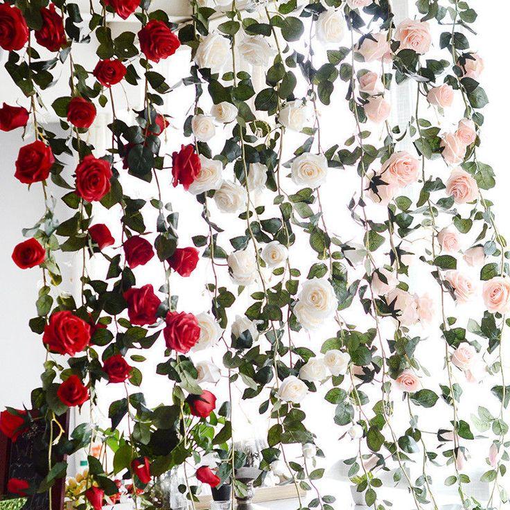 Pflanzen Künstliche Blumen Girlande Kunstpflanzen Möbel Hochzeit Deko Kunstblume | Möbel & Wohnen, Dekoration, Blumen & Künstliche Pflanzen | eBay!