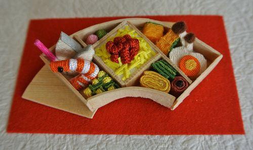 lunch box made of Chirimen