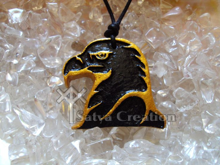 Pendant, Eagle, animal totem, handmade, available on Etsy Shop, SatyaCreation.