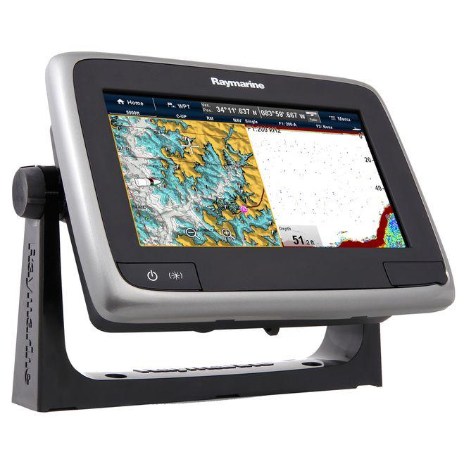 "Raymarine a77 Wi-Fi 7"""" MFD Touchscreen w/ClearPulse Digital Sonar - Lighthouse Navigation Charts - NOAA Vector [E70167-LNC]"
