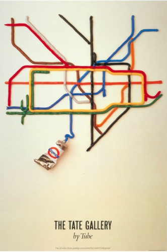 This is the first Tube poster that I vividly remember seeing as a child. I love art on the Underground.