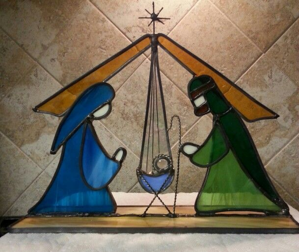 Stained glass nativity I made today!