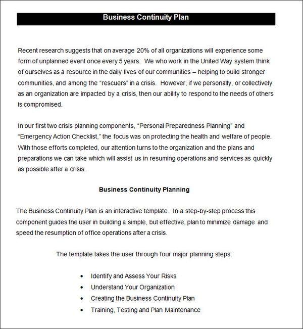 Best 5 Business Continuity Plan Template Format You Calendars Https Www Youcalendars Com B Business Continuity Planning Business Continuity How To Plan