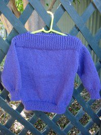 This simple childs 8-ply jumper pattern is rated as an easy knit as it has very little shaping and is knitted in stocking stitch.