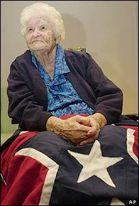 "21 year old Alberta Martin married 81 year WIlliam Martin in 1921 and survived until 2004 making her the last surviving widow of a civil war veteran. She ""had already been widowed with a son when she met William Martin, also a widower who had served with the 4th Alabama Infantry Regiment during the siege of Petersburg in 1864-65 and had a 50$-a-month pension. The two lived on the same road in Opp, Alabama and soon a marriage of convenience was born."""