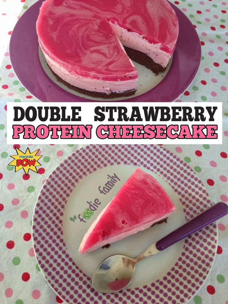 Double Strawberry Protein Cheesecake - a Recipe by Monica - Protein Pow