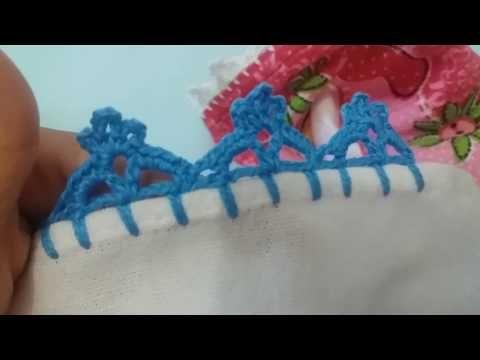 *** Barrado de crochê carreira única #129 - YouTube