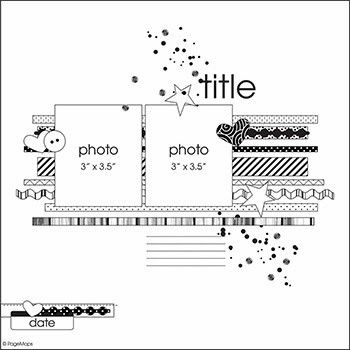 Scrapbooking Inspiration Blog   Scraptastic Club - great sketch to use washi tape
