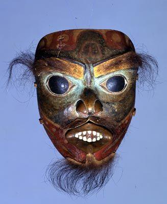 Tlingit Shaman's Mask - Octopus Spirit  1800-1840  The Fenimore Art Museum