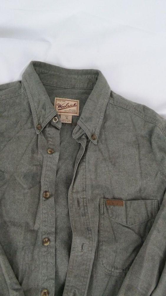 Woolrich Mens Flannel Shirt XLarge Long Sleeve Blanket #Woolrich #ButtonFront