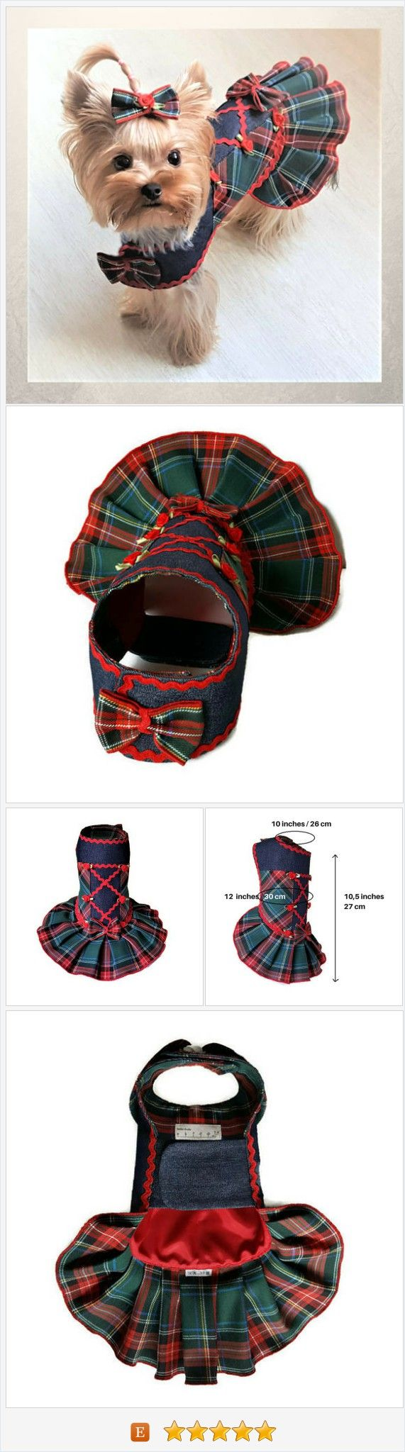 Small dog outfit dress Dress for a dog Dog dresses Small #dog #clothes Cute clothes for dog Dog birthday dress Yorkie clothes Girl dog clothes #dogdress #dogclothes #tartan #tartandress #yorkieclothes #smalldogfashion https://www.etsy.com/SmallDogFashion/listing/558555897/small-dog-outfit-dress-dress-for-a-dog?ref=related-4
