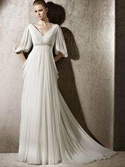 Vintage Half Length White Wedding Dress For Seaside