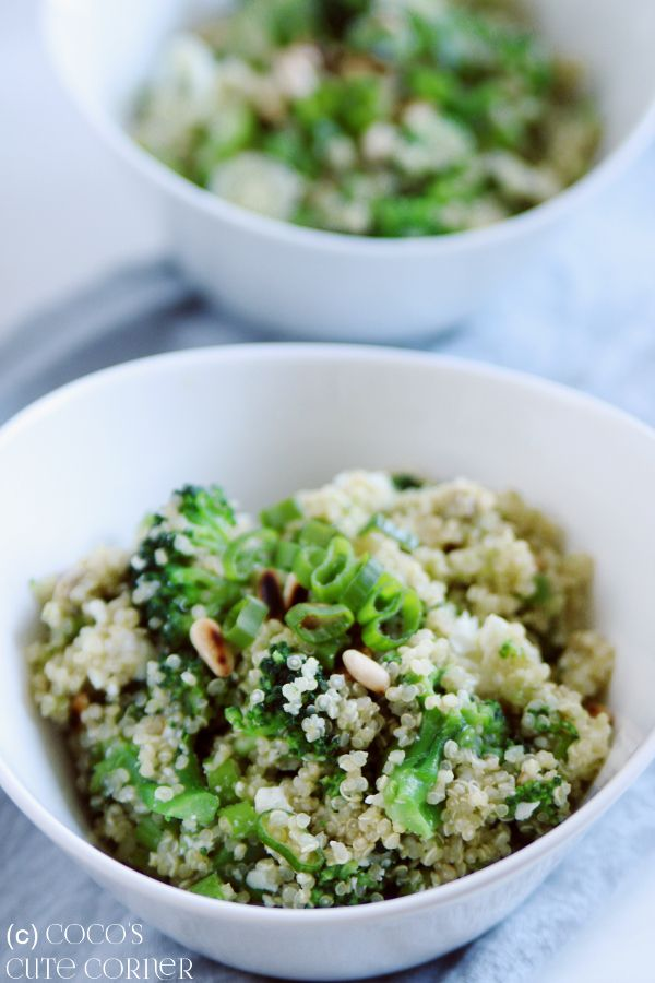 Quinoasalat mit Brokkoli, Avocado und Feta - grosse Quinoa Liebe