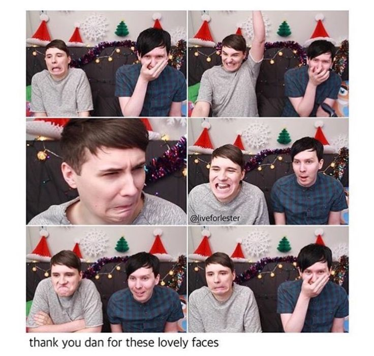 And then Phil is there all adorable constantly adorable