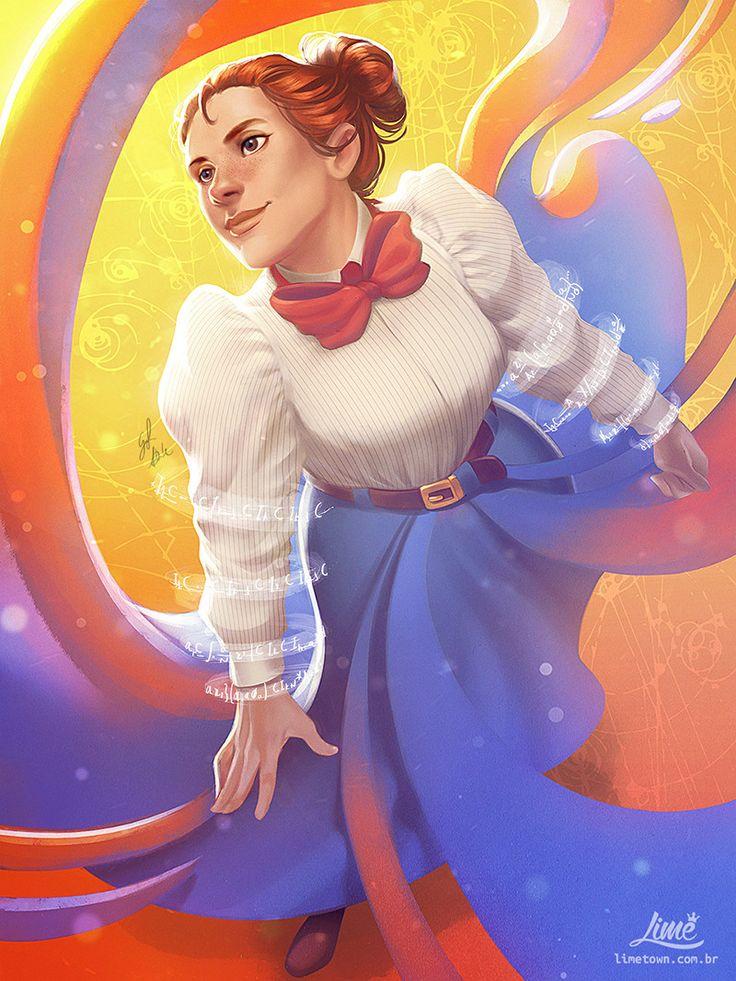 Emmy Noether - STEM: Epic Heroes, Amanda Duarte on ArtStation at https://www.artstation.com/artwork/ZVrLx