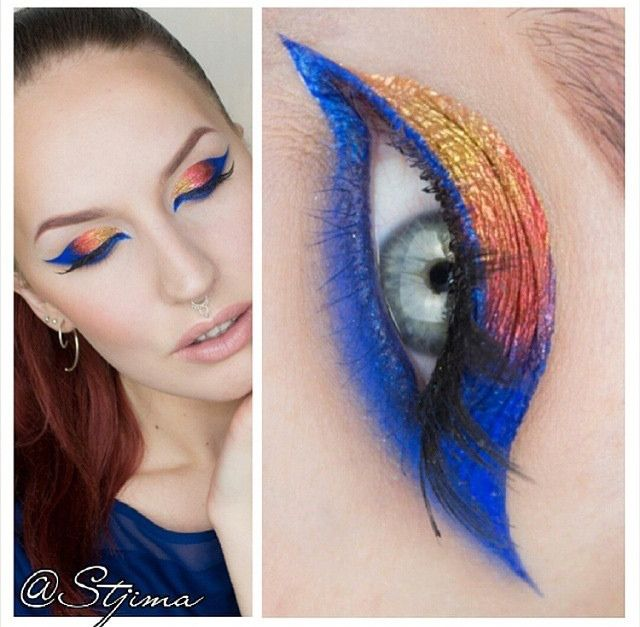 Pics Of Colorful Eyeshadow With Paint