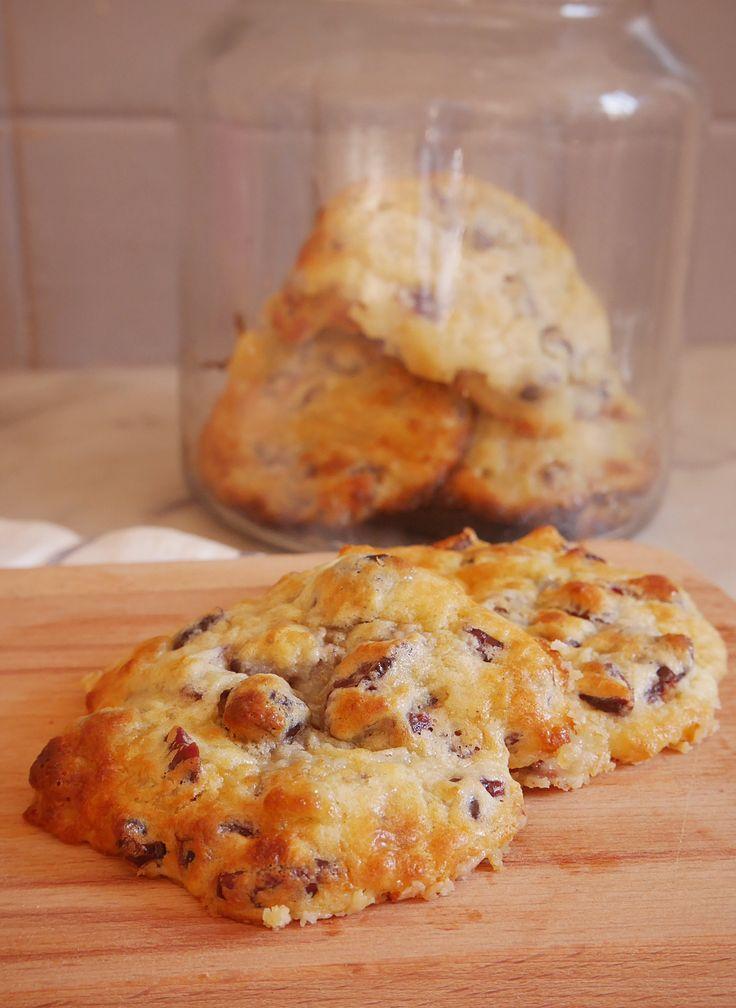 Cookies+chocolat+blanc+cranberries