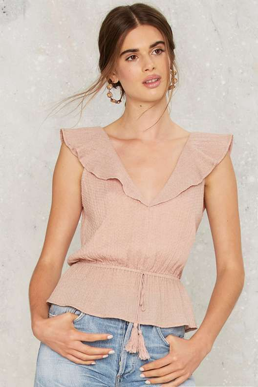 Illume Ruffle Top - Sale: Clothes: 4, S, M
