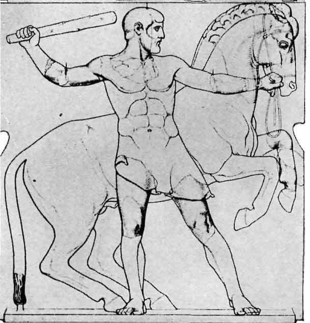 Herakles und die Rosse des Diomedes, Zeus Tempel, Olympia