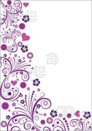 Pink Floral Flower Border | Floral+page+border+designs | { Frames ...