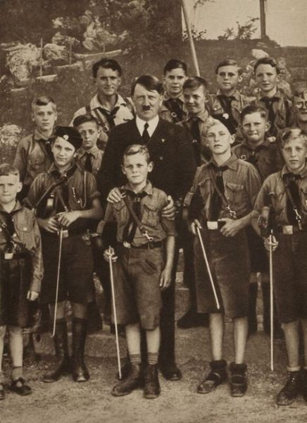 Adolf Hitler acknowledging the achivements of the youth of Germany