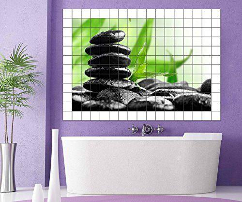 Wellness Fliesenaufkleber 15 10 25 20 Cm Fliesenbild Feng Shui Zen Steine Bambus Fliesen Aufkleber Bad Kche 8A065 Bildformat75cmx50cmFliesengr