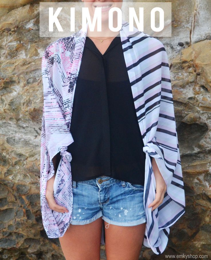 How To Tie A Scarf Kimono Style - Fashion Scarves, Silk Scarves, Made in the USA, Inspiration   EMKYSHOP