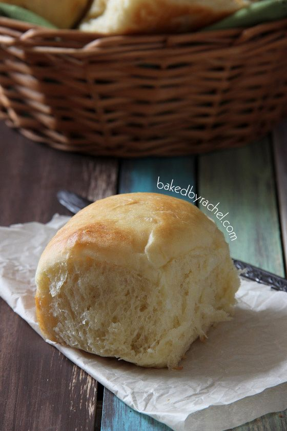 Amish Potato Rolls Recipe from bakedbyrachel.com The perfect soft and fluffy dinner rolls that are full of flavor and easy to make!