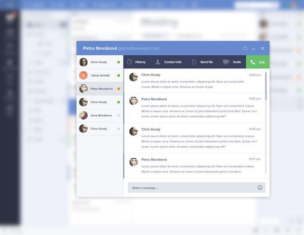 Email Client UI by Jakub Antalik