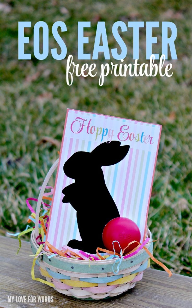 Balm christmas gift turn old eos containers into cool crafts ideas - Eos Easter Gift Free Printable
