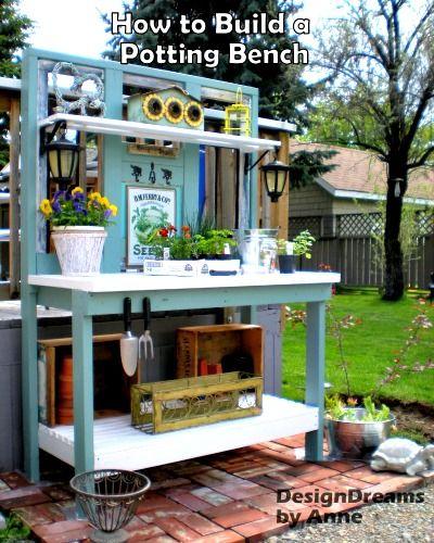 how to build a garden potting bench small garden ideas