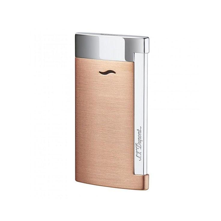 St Dupont Slim 7 Fiamma Rigida Brushed Copper - Tabaccheria Corti Lecco - Online Shop