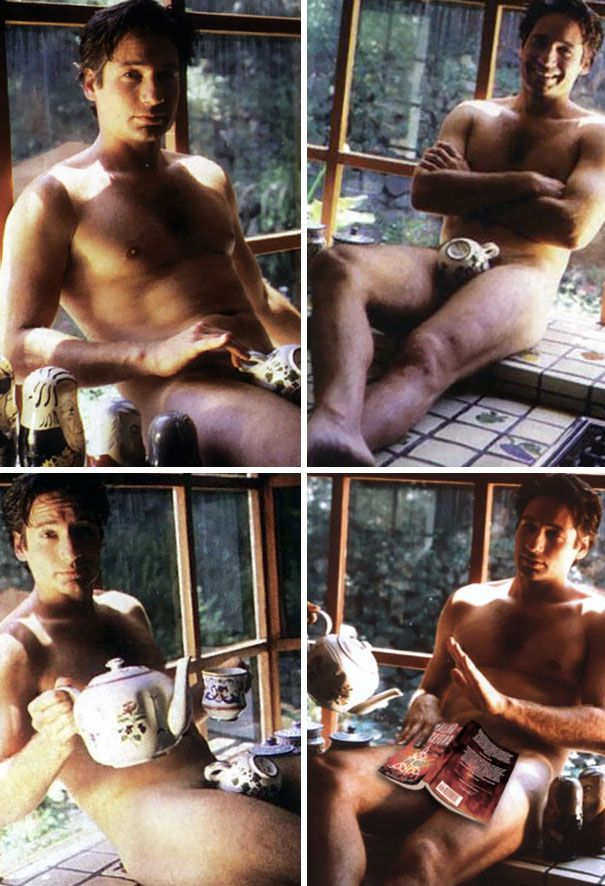 David Duchovny During His Vintage And Nude Tea Time Photo Shoot