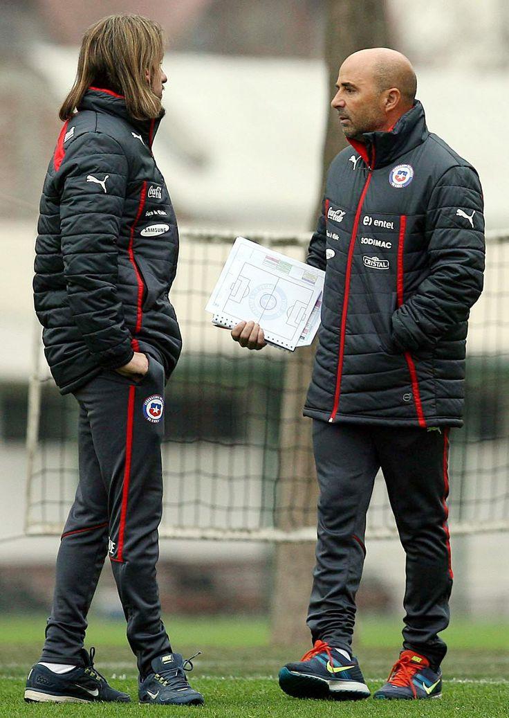 Jorge Sampaoli, director técnico de la Selección fútbol de #Chile. Foto: EFE.
