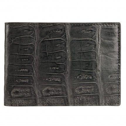 Uomo / Portafogli / Portafoglio uomo in pelle di Coccodrillo, grigio