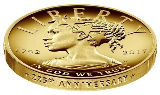 Liberty depicted as black woman on $100 gold coin. The only reason this could cause controversy is if you were invested in the non-liberty of people of color, especially African American women.