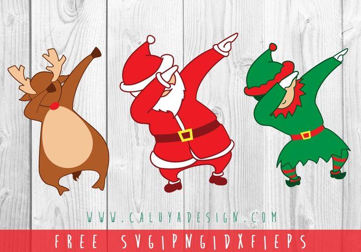 Dabbing Christmas FREE SVG, PNG, EPS & DXF