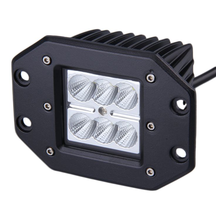 1 x 4INCH 18W for Square Flood LED Work Light Bar Bumper Off Road TRUCK for Jeep
