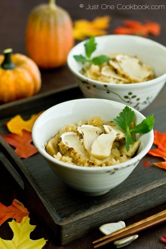 Matsutake Gohan (Pine Mushroom Rice) | Easy Japanese Recipes at JustOneCookbook.com