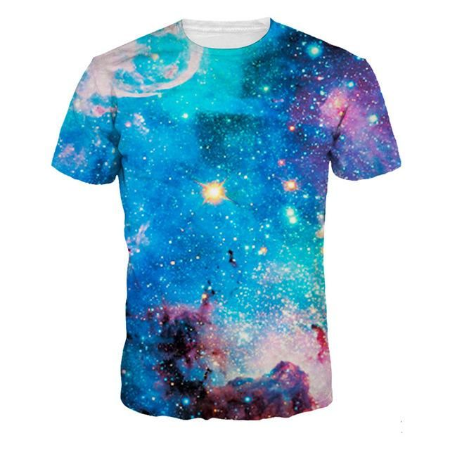 e45fba76 Blue Galaxy Shirt in 2019 | Products | Mens tee shirts, Rave outfits ...