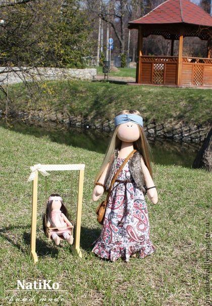 Хиппи-мама - хиппи,хиппи стиль,лето 2013,интерьерная кукла,текстильная кукла