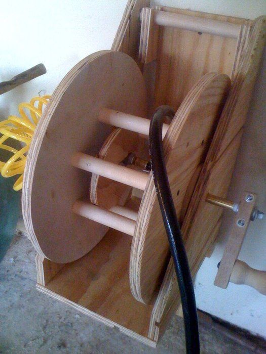 Air hose reel (cheap!) - by barecycles @ LumberJocks.com ~ woodworking community