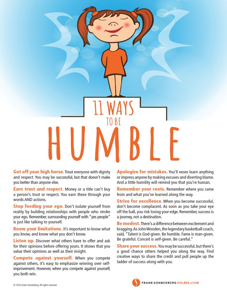 11 ways to be humble